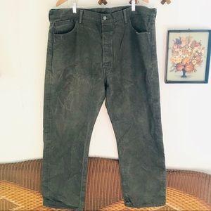 Levi's 501 Button Fly White Oak Cone Denim Jeans